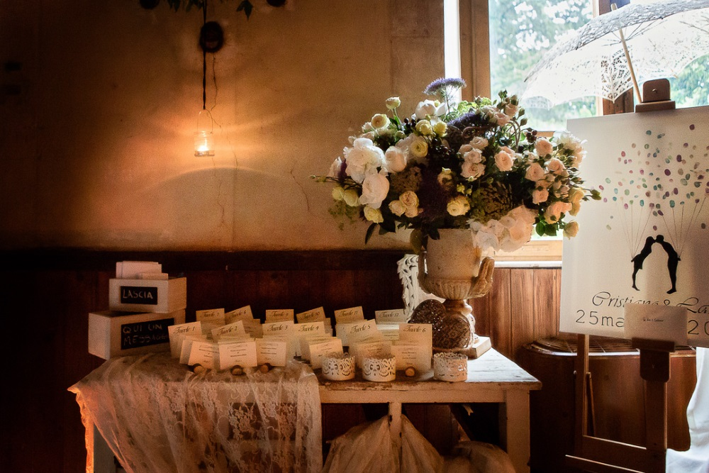 Why you should have a welcome table at your wedding in Tuscany!