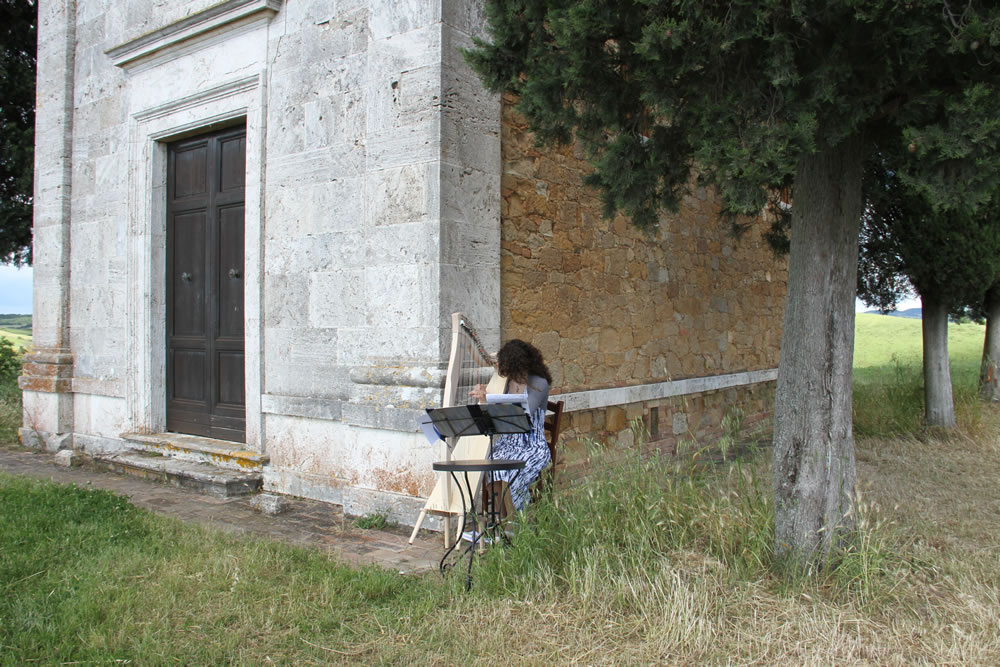 Harpist 2 for Wedding Proposal in Tuscan Countryside