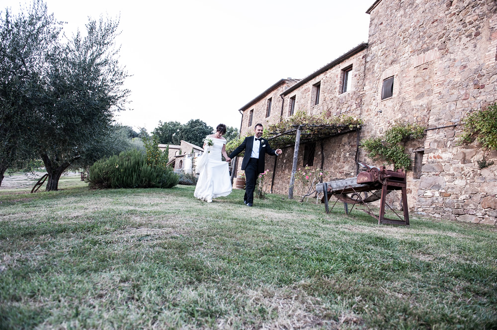 Wedding hamlet in Montalcino